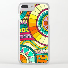 Color & Curvy Art - 7 Clear iPhone Case