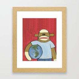 Sock Monkey 109 Framed Art Print
