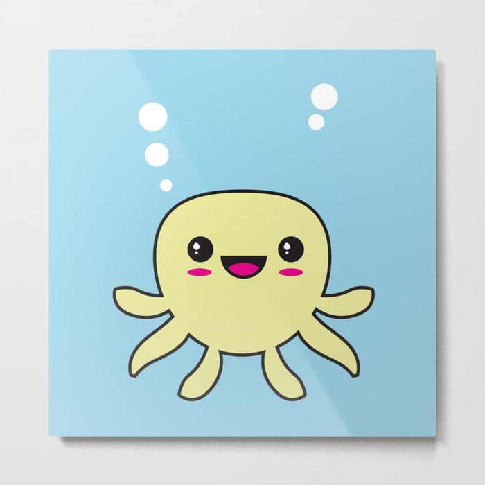 Kawaii Octopus Metal Print