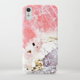 GOLD FLECKED ROSE QUARTZ iPhone Case