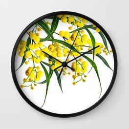 The Golden Wattle Wall Clock