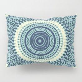 Great Wave Off Kanagawa Inspired Kaleidoscope Pattern Japanese Art Pillow Sham