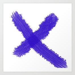 x marks the spot II Art Print