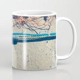 Fishnet with sinker on rope Coffee Mug