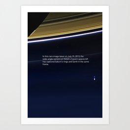 Pale Blue Dot - Cassini - Earth photo, HQ quality Art Print