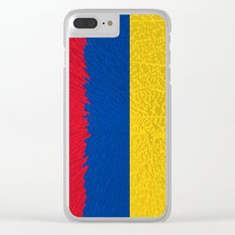 Extruded flag of Columbia Clear iPhone Case