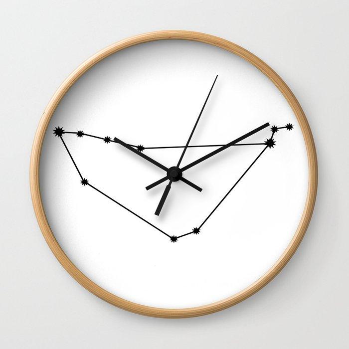 Capricorn Astrology Star Sign Minimal Wall Clock