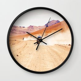 Road Racing Desert (Color) Wall Clock