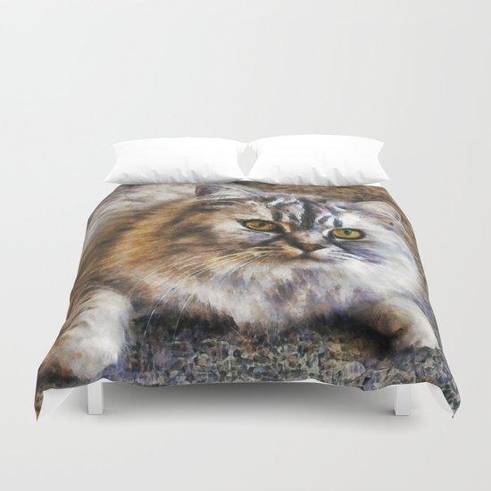 Brown Cat Duvet Cover