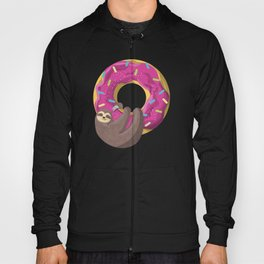 Cute sloth hanging from the donut Hoody