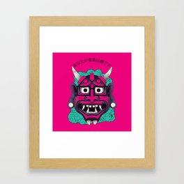 Hipster Demon Framed Art Print