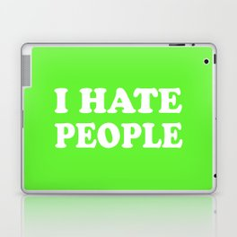 I Hate People - Lime Green and White Laptop & iPad Skin