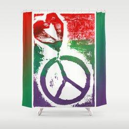 Peace & Love Shower Curtain