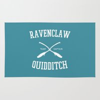 ravenclaw Area & Throw Rugs featuring Hogwarts Quidditch Team: Ravenclaw by IA Apparel