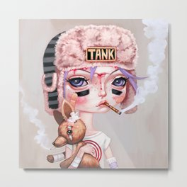 Tank Girl and Booga Metal Print