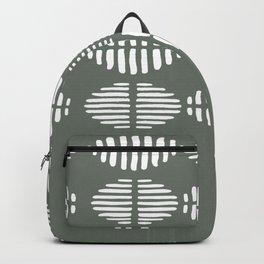 Grey White Pattern Design Backpack