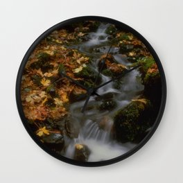 Forest Creek Amongst The Leaves Wall Clock