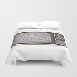 Old Television Static Duvet Cover