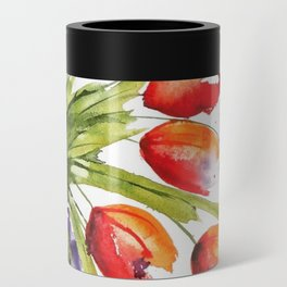 Tulips Overflowing Can Cooler