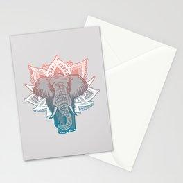 Lotus Elephant Mandala Stationery Cards
