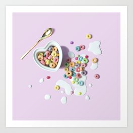 Cereal and Milk Art Print
