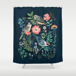 Birds Garden Shower Curtain