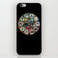 magic the gathering iPhone & iPod Skins featuring Magic the Gathering - Stained Glass by omgitsmagic