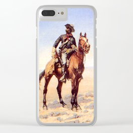 "Frederic Remington Western Art ""Buffalo Soldier"" Clear iPhone Case"