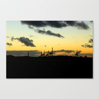 industrial Canvas Prints featuring Industrial by MKMalesevich