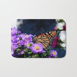 Butterfly on Asters III Bath Mat