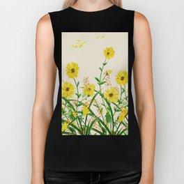 Yellow Wildflowers Biker Tank