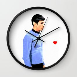 Spock Space Husbands Print Wall Clock