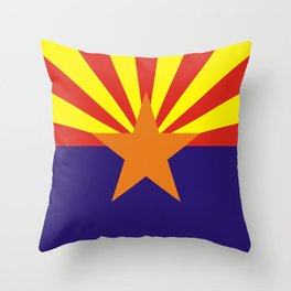 arizona state flag united states of america country Throw Pillow