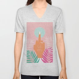 Grl Pwr #girlpower #feminist #society6 Unisex V-Neck