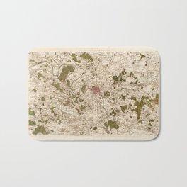 Carte de France (1756) Bath Mat