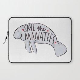Save the Manatees Laptop Sleeve