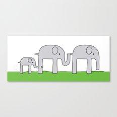Elephant Family Canvas Print