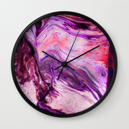 Marbled Garnet Wall Clock