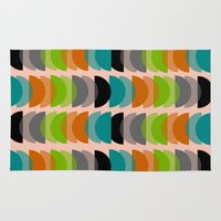 mid century modern Area & Throw Rugs featuring Mid-Century Modern Geometric by Kippygirl