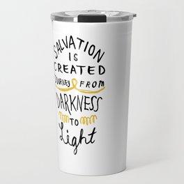 Salvation is Created Travel Mug