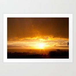 Sunset in Spring  Art Print