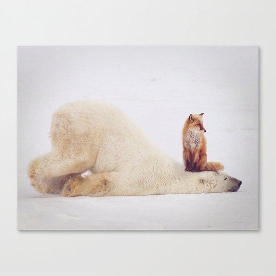 Foxy takedown Canvas Print