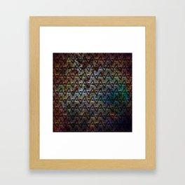 All Seeing Pattern Framed Art Print