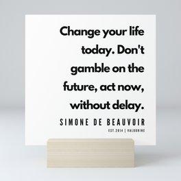 23      Simone De Beauvoir Quotes   190605 Mini Art Print