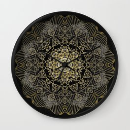 Bohemian Gold Brushed Mandala design Wall Clock