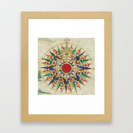 Vintage Compass Rose Diagram (1502) Framed Art Print