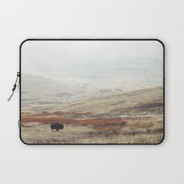 Lone Bison on National Bison Range in Montana Laptop Sleeve