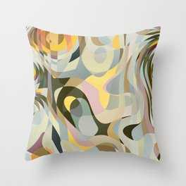Cold Convergence Throw Pillow