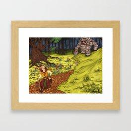 Mischievous Elf Framed Art Print