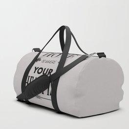 Home Heart grey - Typography Duffle Bag